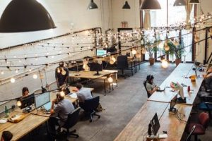 Many people use co-working office for their own business.